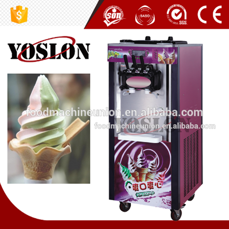 mixed flavours ice cream three choose soft 7.2*2L for amusement park