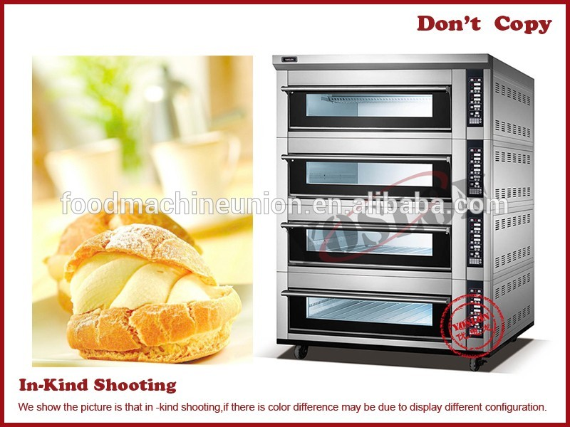 3 deck 12tray commercial bakery equipment electric deck oven bread bascuit baking oven euipment for sell