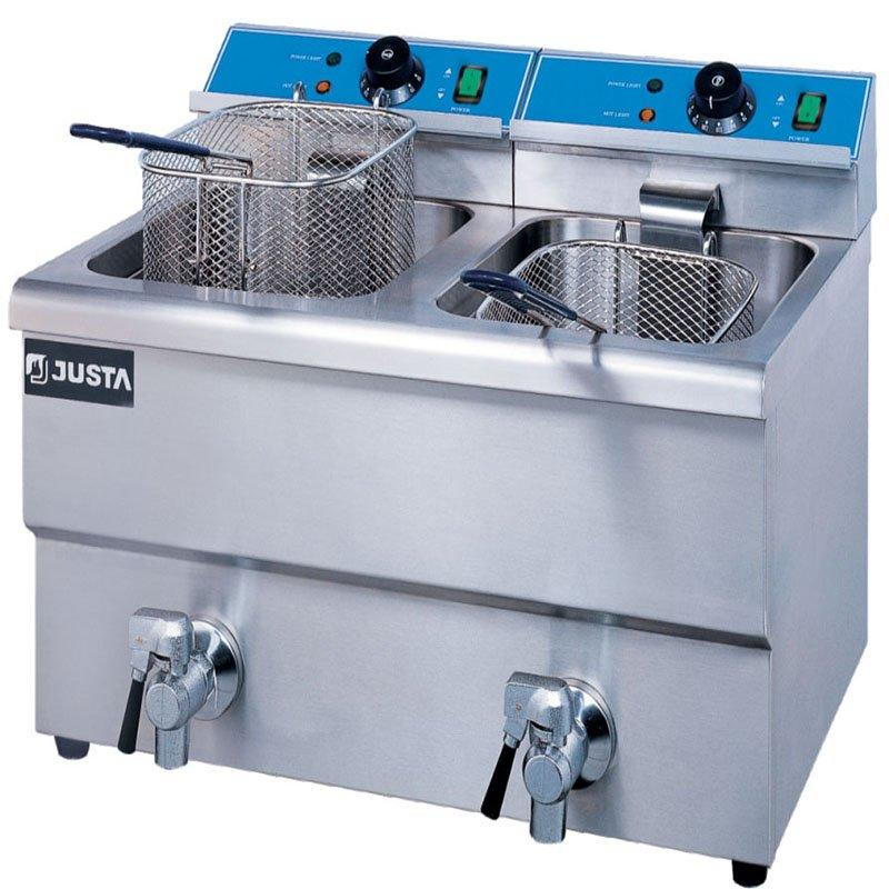 Commercial Double Tanks Counter Top Electric Deep Fryer with capacity 8L+8L