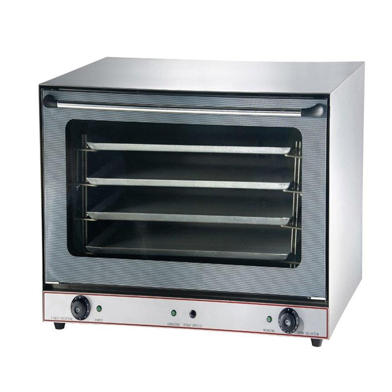 Small Electric Convection Oven with Steam and Perspective Door