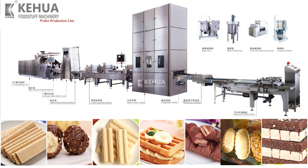 kehua Chinese Wafer snack machine/waffle making machine/chocolate production line
