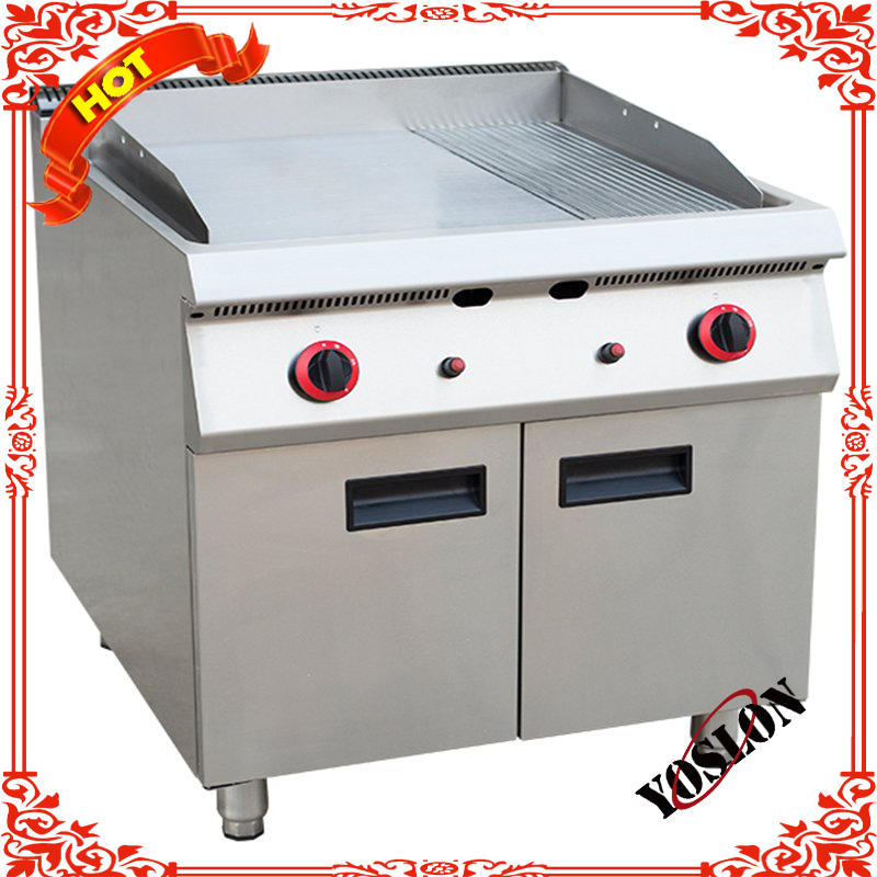 Gas 2/3 Flat And 1/3 Grooved Heavy Duty Commercial Griddle With Cabinet