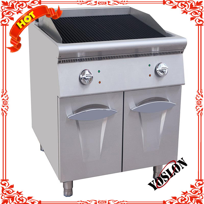 Restaurant gas Lava Rock Grill With Cabinet GB-789