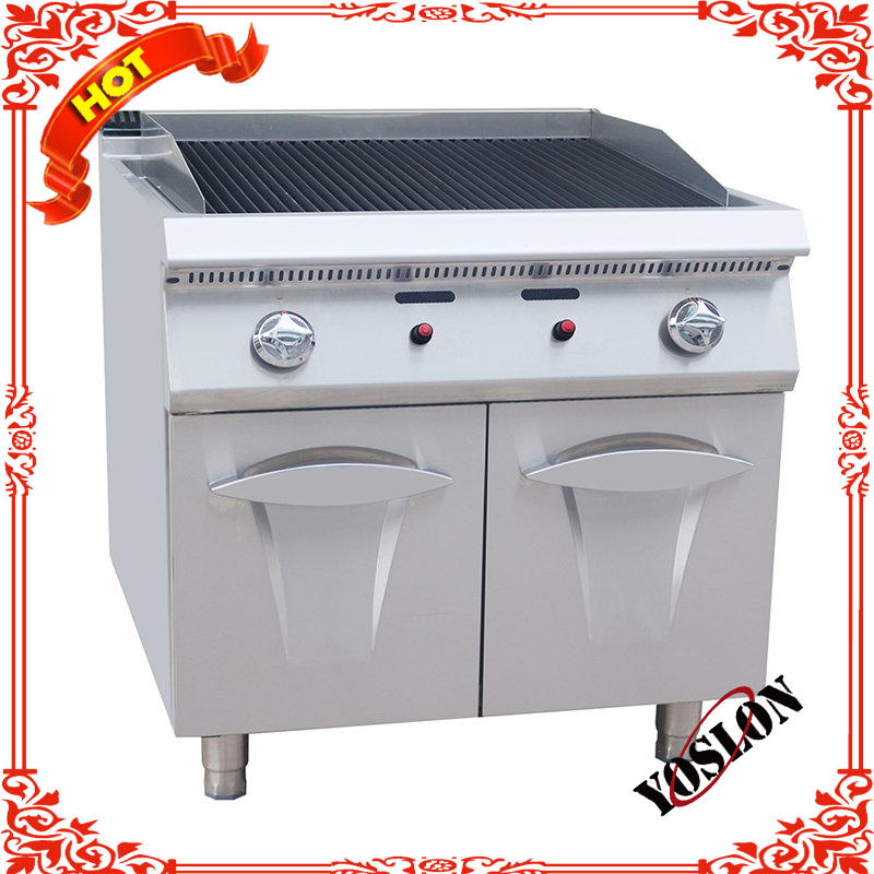 High Quality Commercial Gas Lava Rock Barbecue Grill With Cabinet