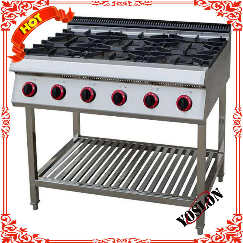 Counter Top 6 Burner Gas Stove/ Stainless Steel Cooking Cooking Gas Stove