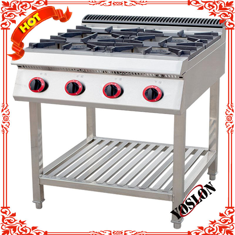 Stainless Steel 4 Burner Table Top Gas Cooker, Burner Counter Top Stainless Steel Gas Stove