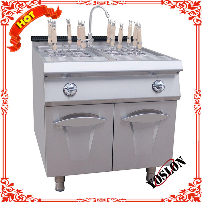 Commercial Kitchen Equipment Electric Counter Top Gas Pasta Cooker With Cabinet