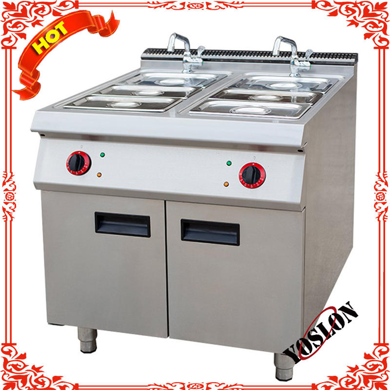Hot soup stove with cabinet
