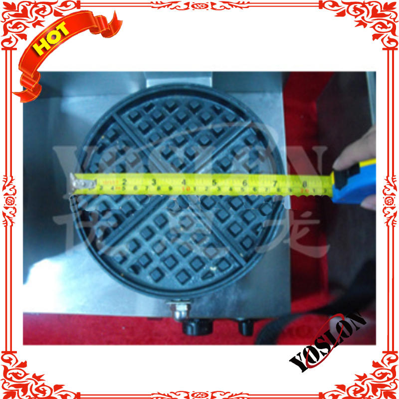 CE certificate electric roundness waffle baker single plate