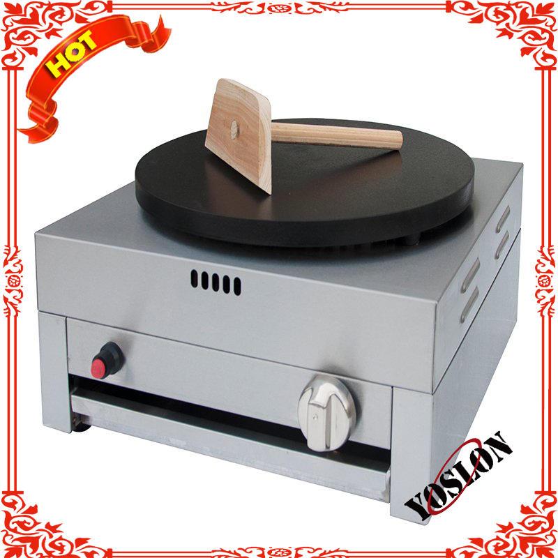 Single plate commercial crepe griddle pancake machine cast iron gas crepe maker