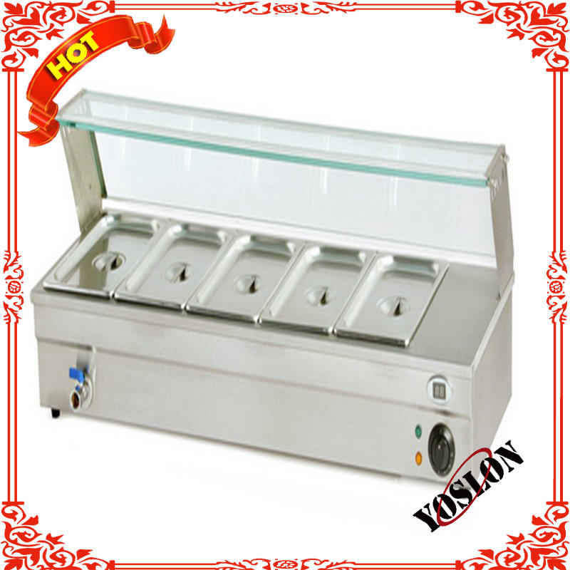 Restaurant Equipment 4pan Counter Top Electric Bain Marie With Top Shelf BN-B20-1