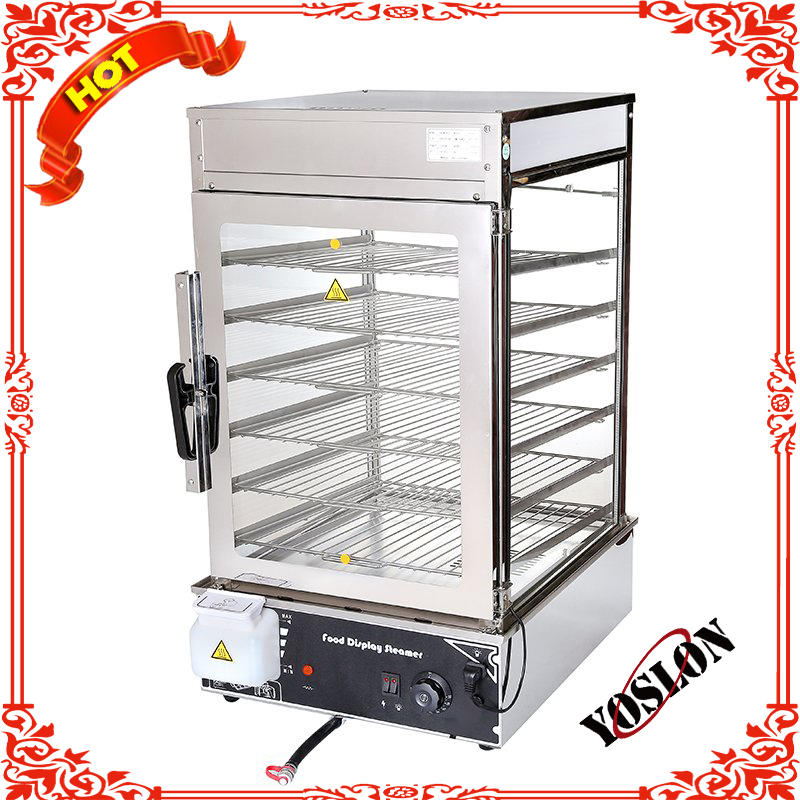 Stainless Steel Food Heating Show Case/Warming Display Showcase