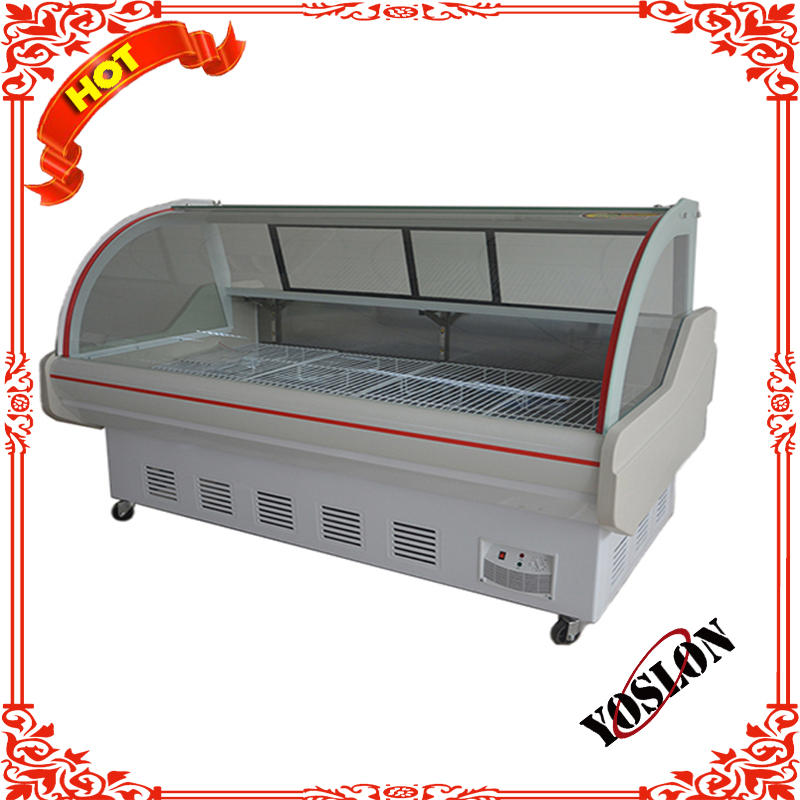 Meat Cabinet Freezer Sliding Glass Display Refrigeration Equipment For Restaurants