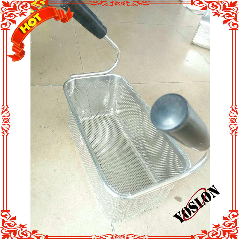 Nylon handle stainless steel deep frying basket stainless steel deep frying basket pasta fry basket