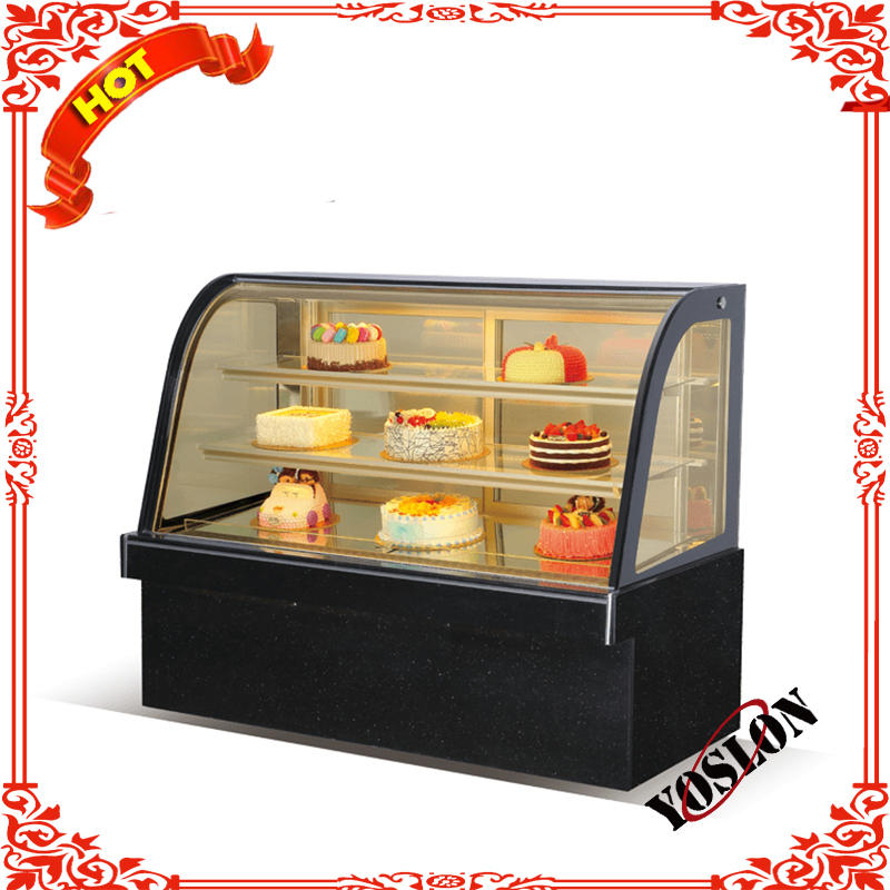 CE certificate approved cake showcase with three layer hot selling