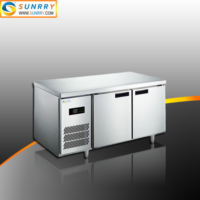 Auto Defrosting Stainless Steel Refrigerator Cabinets and Refrigerated Work Table