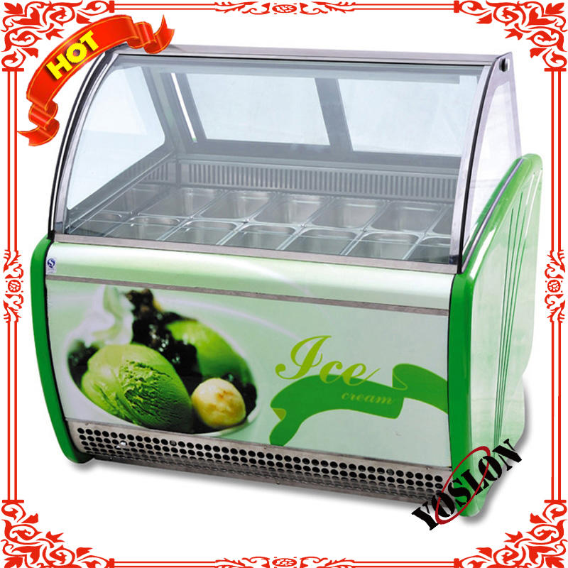 Commercial hard ice cream display cabinet/ice cream show case