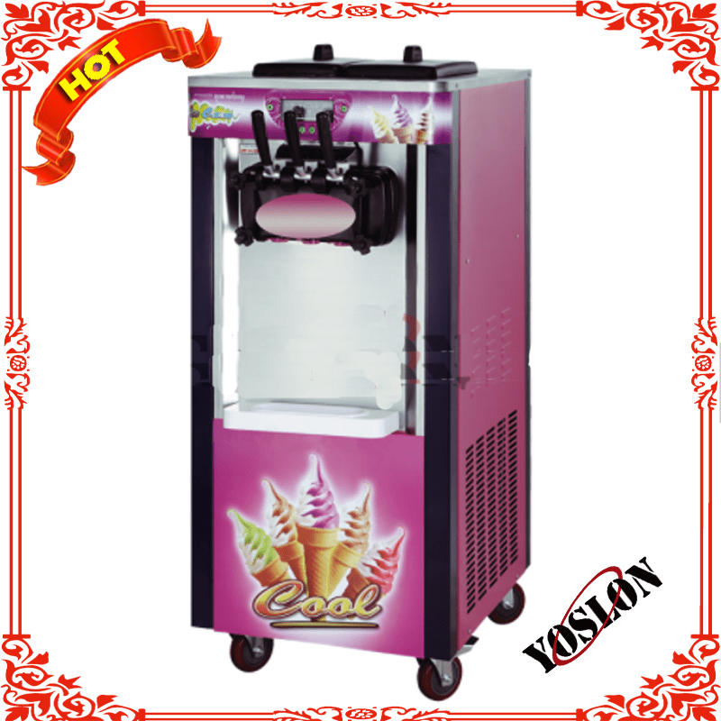professional design YOSLON factory price high quality soft ice cream machine