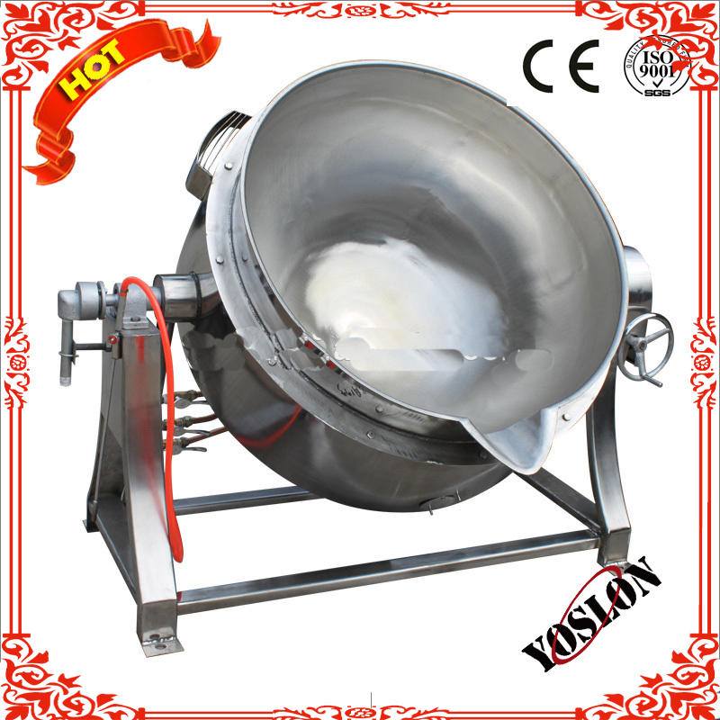 Food processing machine/200L electric tiltable jacketed pot for making meat sauce