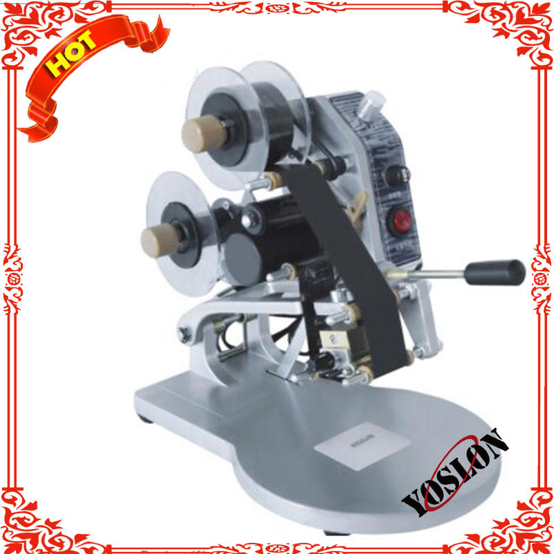 DY-8 Manual Expiry Date Ribbon Coding Machine Batch Code Printing Machine