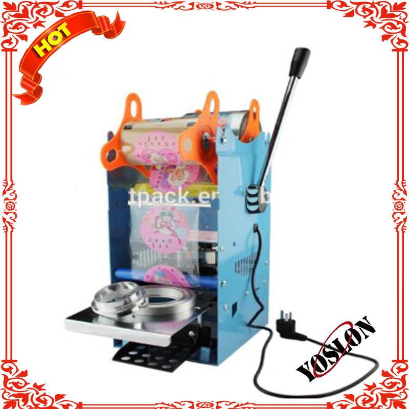 tabletop manual boba tea cup sealing machine