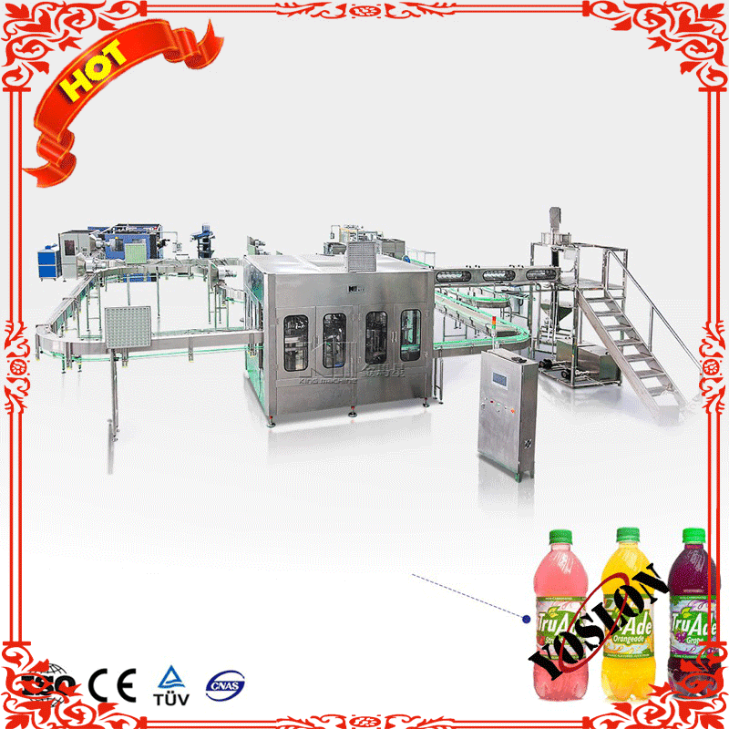 King Machine Professional Supplier Bottle Water Juice Carbonated Drink Beverage Filling Packing Machine Production Line