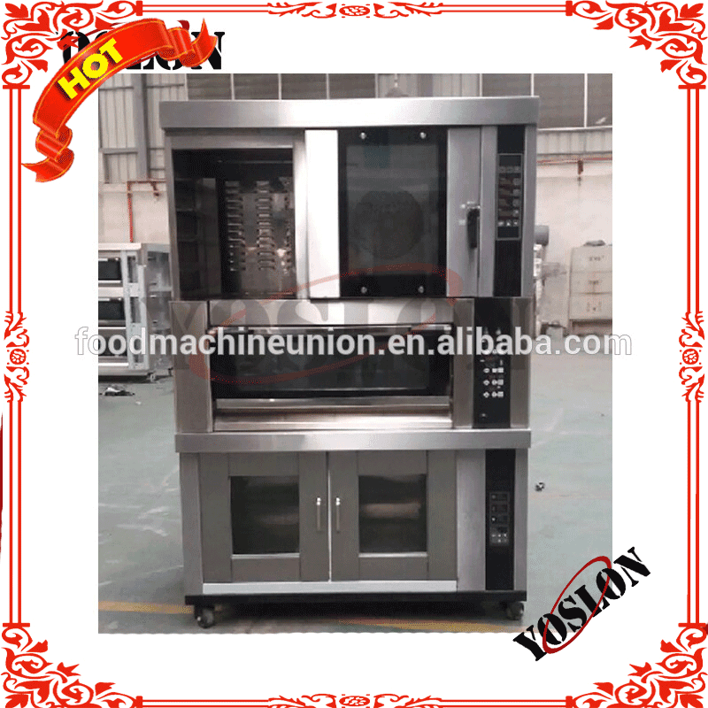combination oven /deck oven/ convection oven with proofer for bakery hotel