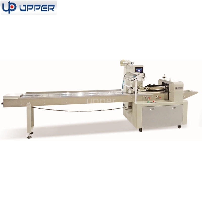 Foshan factory producing automatic horizontal flow packing machine for bakery products packing