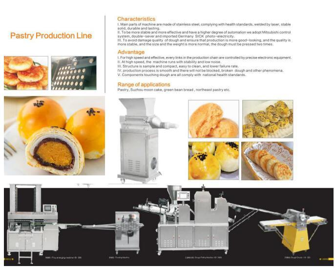 HD-988 Automatic Pastry Production Line for pastry/mooncake/green bean bread/pasta