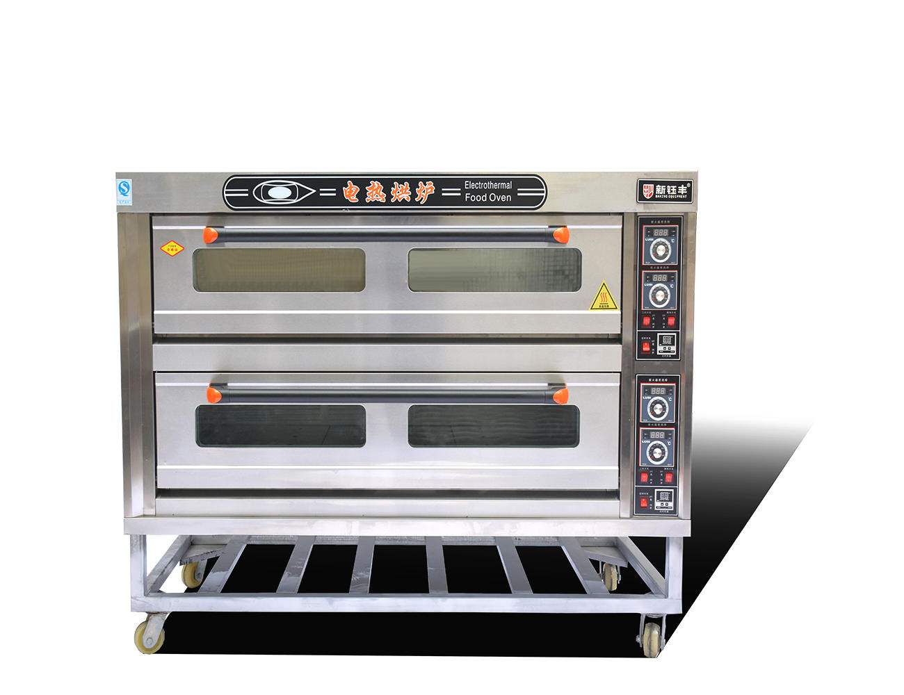 Commercial electric high temperature oven 2 deck 6 trays bread electric baking oven