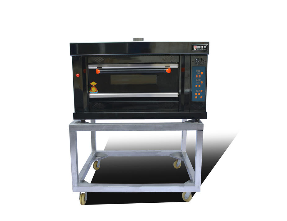 Gas Deck Bread Ovens / Bread Baking Machine 1 Layers 2 Pans