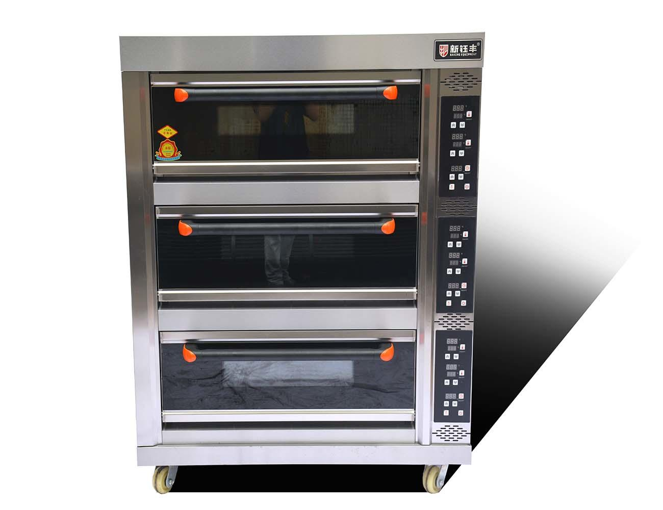 electric high temperature oven 3 deck 6 trays bread electric baking oven