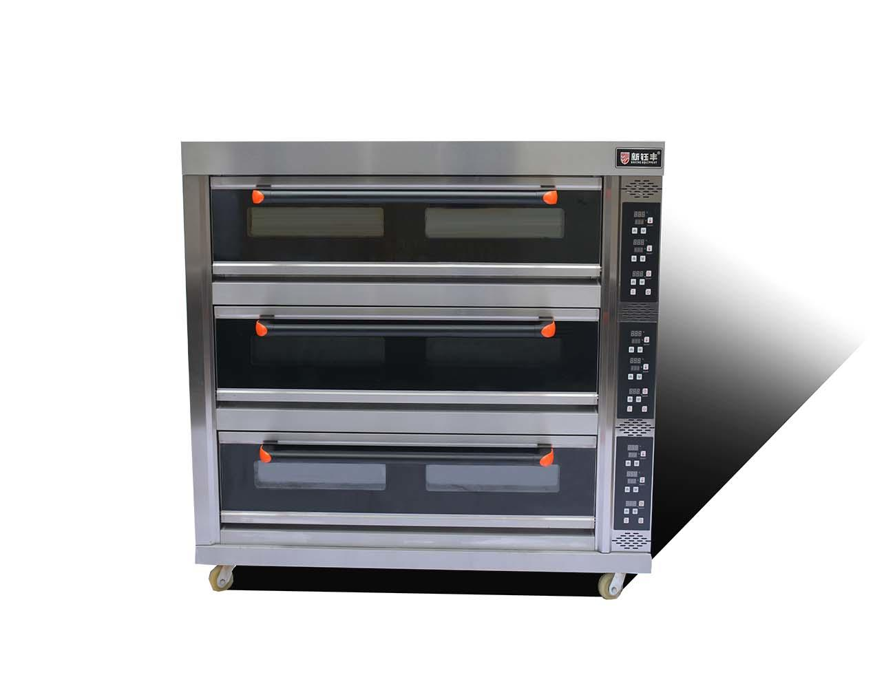 electric high temperature oven 3 deck 9 trays bread electric baking oven