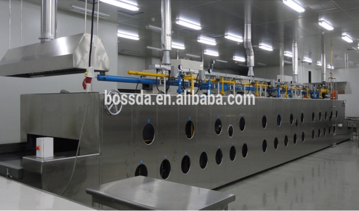 Energy Saving industrial Bakery Equipment natural gas Tunnel Bread Oven